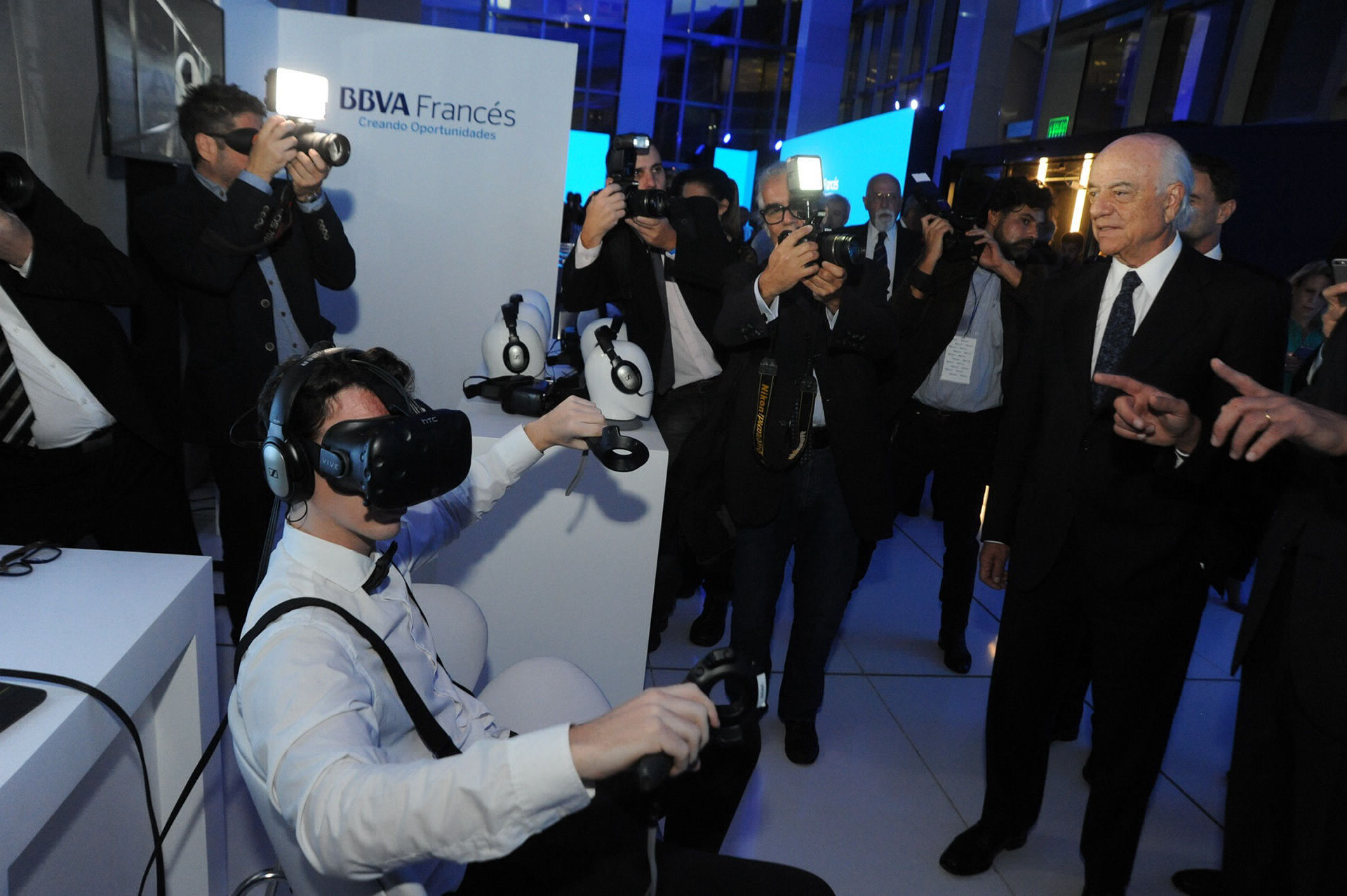 BBVA VR gamification at event